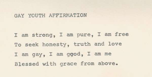 Gay Youth Affirmation from the Gay Freedom Movement of Jamaica archives
