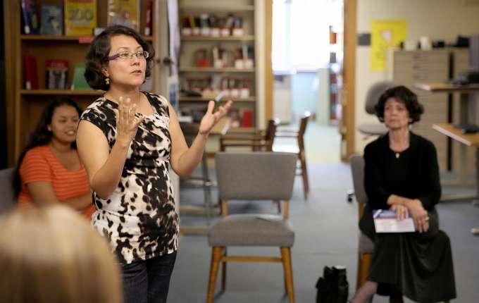 Margarita Vargas-Betancourt talks for Hispanic Heritage Month, 2013