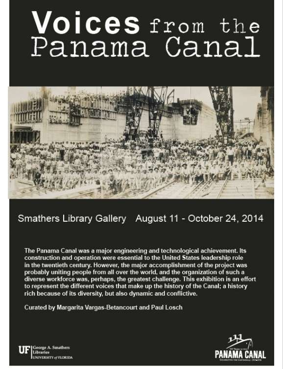 Voices from the Panama Canal exhibit poster