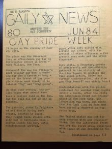 The Jamaica Gaily News, issue 80 Gay Pride Week 1984